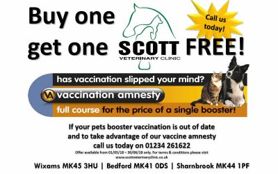 *Vaccine Amnesty 1st May – 30th June*